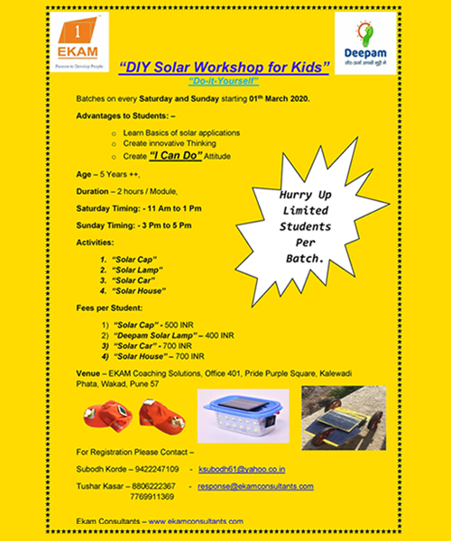 DIY Solar Workshop for Kids